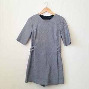 Zara checkered belt romper dress